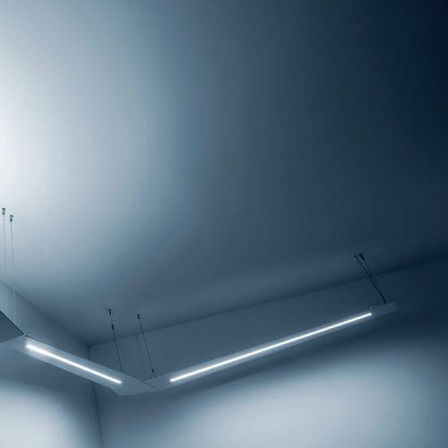 luce a sospensione / LED / lineare / in alluminio