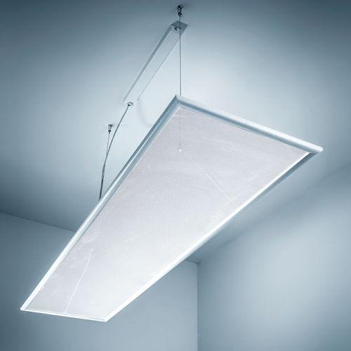 luce a sospensione / LED / lineare / quadrata