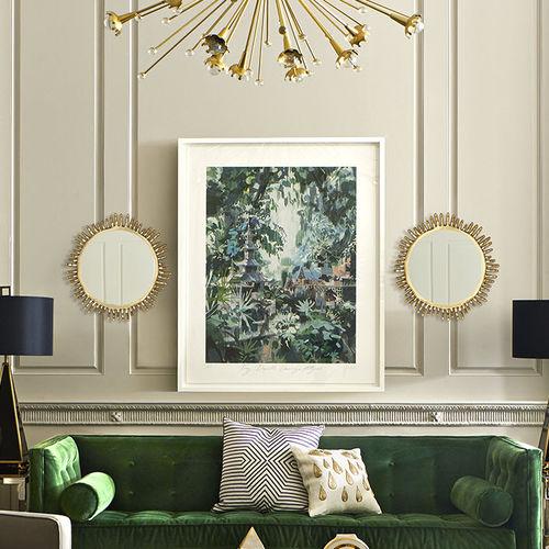Specchio a muro / classico / rotondo / in ottone EVE Jonathan Adler