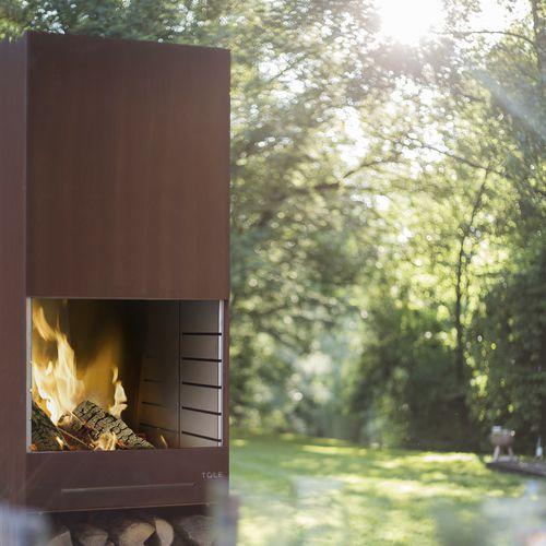 barbecue a carbonella / a legna / da incasso / in acciaio inossidabile