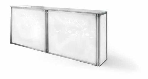 bancone da cucina / in metallo / dritto / modulare