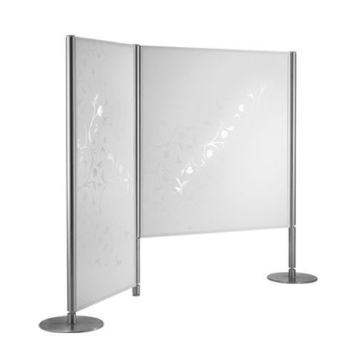 parete amovibile / in metallo / in vetro / in maglia metallica