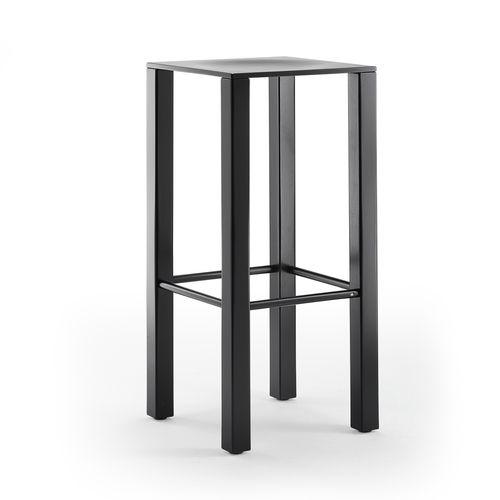 sgabello da bar moderno / in legno / contract / nero