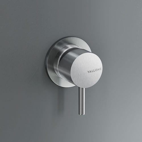 miscelatore da doccia / per vasca / da parete / in acciaio inox