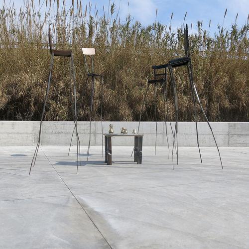 scultura in metallo / da esterno