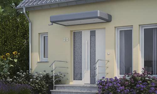 Pensilina da ingresso / in alluminio KV 350 Kompo Therm