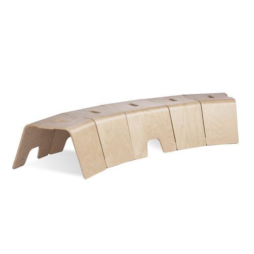 panca moderna / in betulla / modulare / per bambini