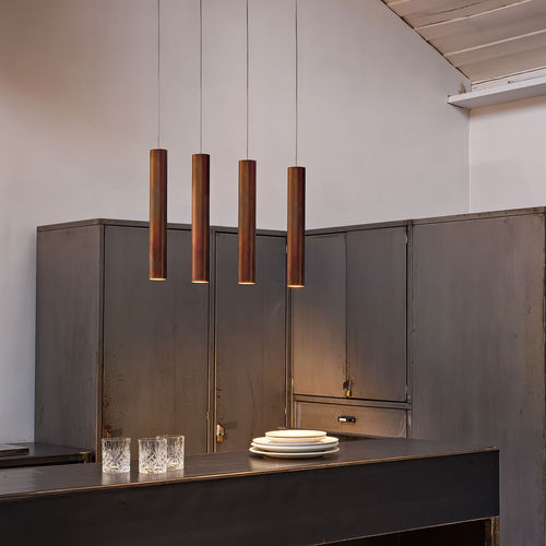 lampada a sospensione / moderna / in metallo / LED