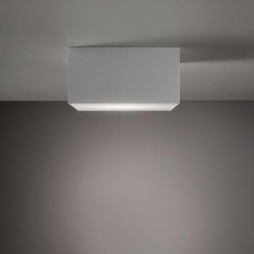 plafoniera moderna / quadrata / in alluminio / LED