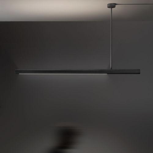 luce a sospensione / LED / lineare / in metallo