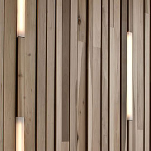 Paramento in legno / da interno / a rilievo LINEAR | WOODEN WALL Derako
