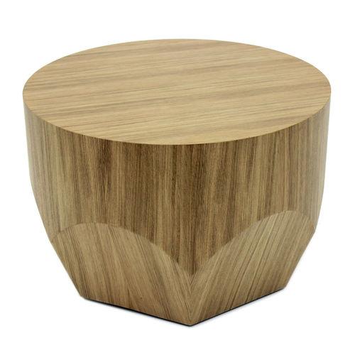 tavolo d'appoggio moderno / in quercia / tondo
