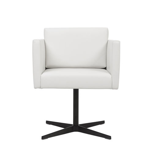 sedia moderna / imbottita / con braccioli / con base a stella