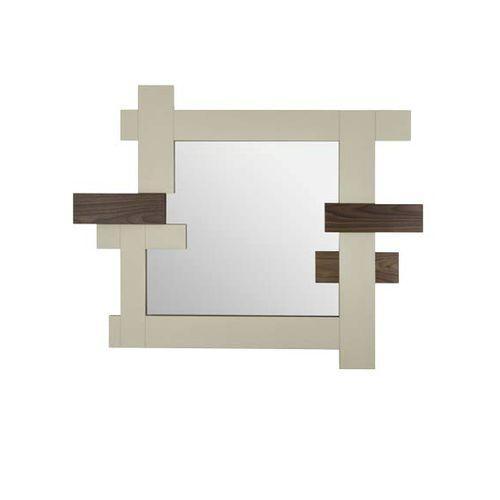 specchio a muro / moderno / in legno