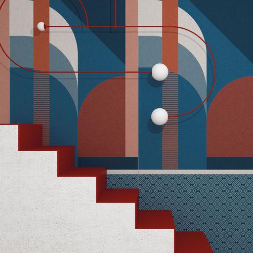 piastrella da interno / da parete / in gres porcellanato / rettangolare