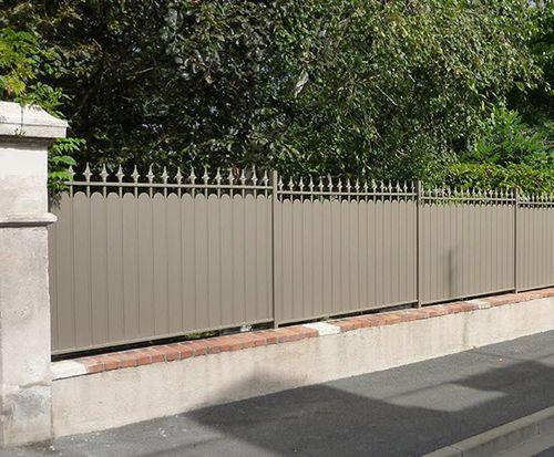 recinzione da giardino / a sbarre / in alluminio