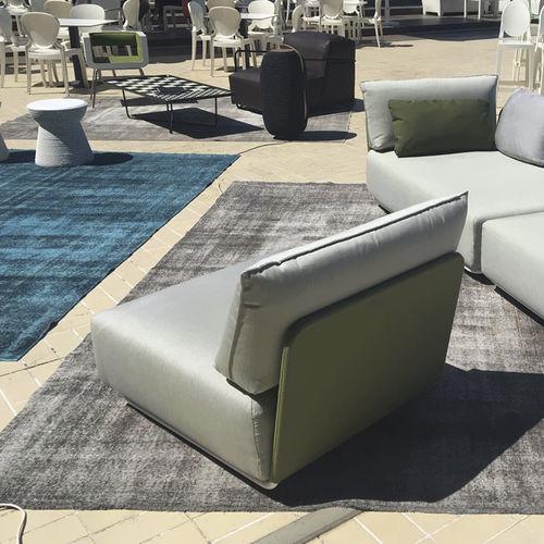 chauffeuse moderna / in tessuto / modulare / da esterno