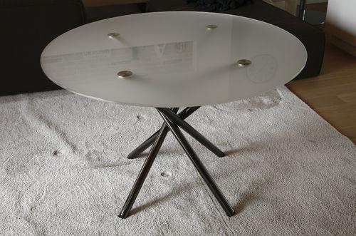 tavolo moderno / in alluminio / tondo / contract