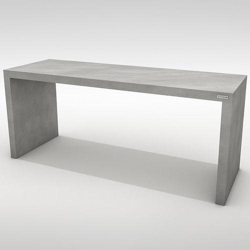 Tavolo da pranzo moderno / in calcestruzzo / rettangolare / da giardino ANGULUS TABULA  CO33
