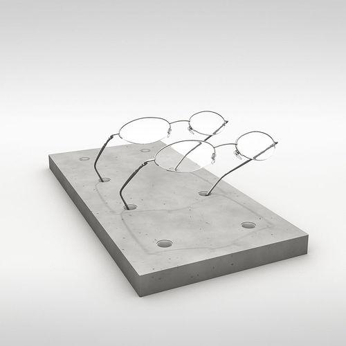 Espositore da bancone / di ottica / in calcestruzzo / per negozio B7 CO33