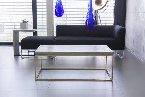 tavolino basso moderno / in acciaio / in calcestruzzo / quadrato