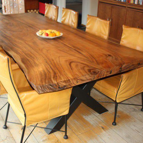 Tavolo da pranzo moderno / in legno massiccio / rettangolare ...