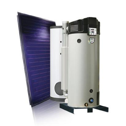 scaldacqua solare / a gas / da appoggio / verticale
