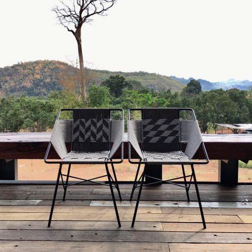 sedia moderna / riciclabile / ecologica / in acciaio