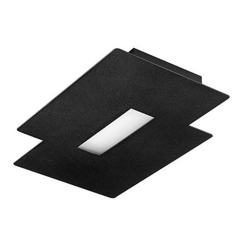 plafoniera moderna / rettangolare / in ghisa di alluminio / LED