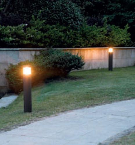 lampioncino moderno / in ghisa di alluminio / in poliestere / LED