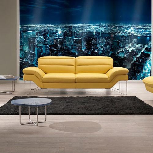 divano moderno / in tessuto / in pelle / in acciaio inossidabile