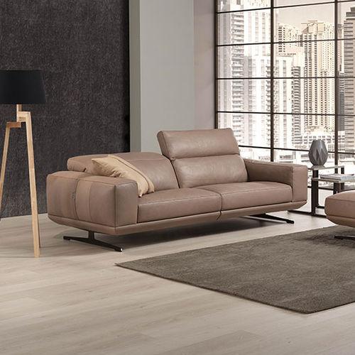 divano moderno / in tessuto / in pelle / 2 posti