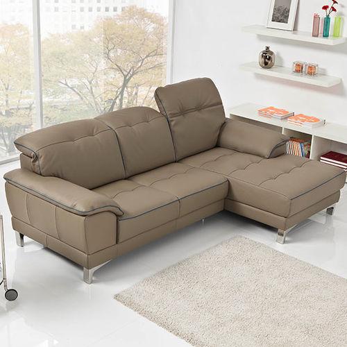 divano d'angolo / moderno / in pelle / 3 posti