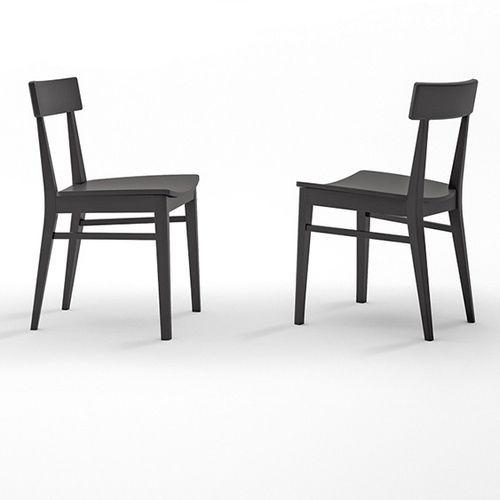 sedia da pranzo classica / in legno massiccio