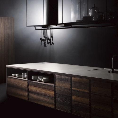 cucina moderna / in legno massiccio / in quercia / in noce