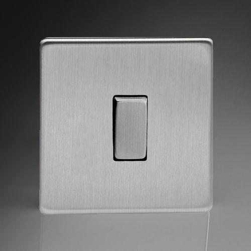 interruttore a bascula / doppio / in acciaio / moderno