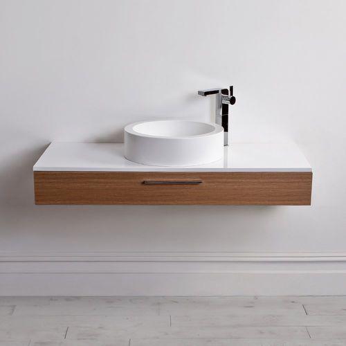 Mobile lavabo ghisa minerale / in legno / sospeso / moderno   edge ...