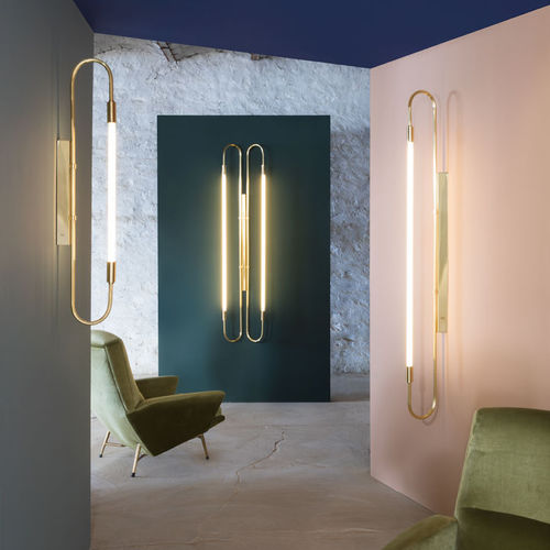 applique moderna / in ottone / in ottone lucidato / in vetro opalescente
