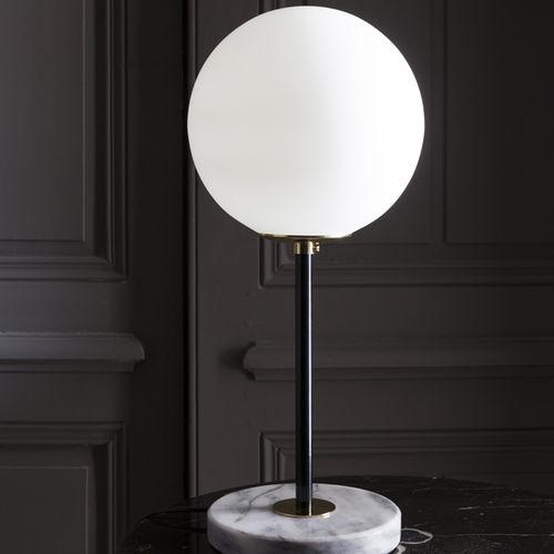 lampada da tavolo / moderna / in ottone lucidato / in vetro soffiato