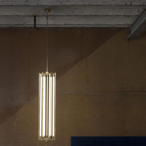 lampada a sospensione / Art Deco / in ottone / in ottone lucidato