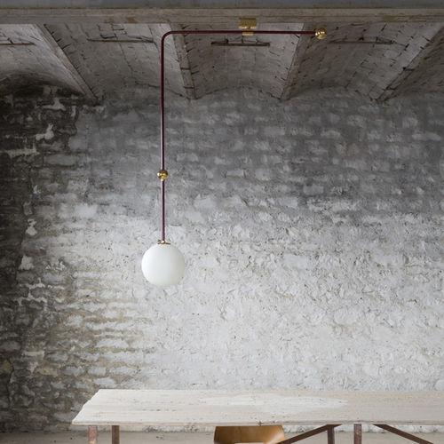 lampada a sospensione / moderna / in ottone lucidato / in vetro soffiato