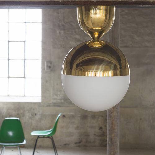 plafoniera moderna / tonda / in vetro soffiato / in ottone