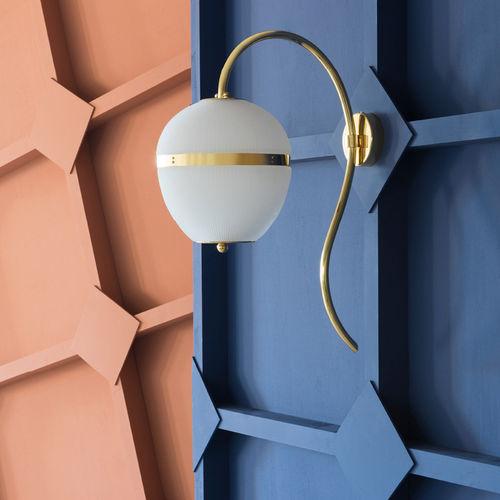 applique moderna / in ottone / in ottone lucidato / in vetro soffiato