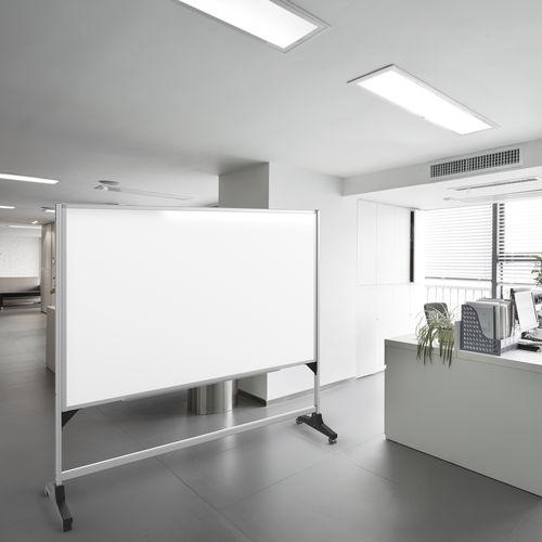 tabellone bianco / cancellabile / autoportante / in alluminio