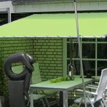 tettoia per terrazzo / in tela / in metallo