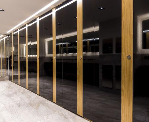 cabina WC per bagno pubblico / in laminato / in HPL / in legno