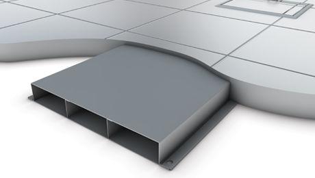 canalina di cablaggio in acciaio / da pavimento / professionale
