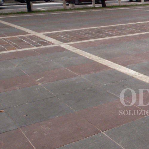 lastricato in marmo / per pedoni / per spazio pubblico