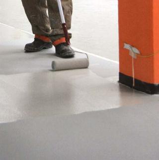 pavimento in poliuretano / in acrilico / industriale / per struttura sanitaria