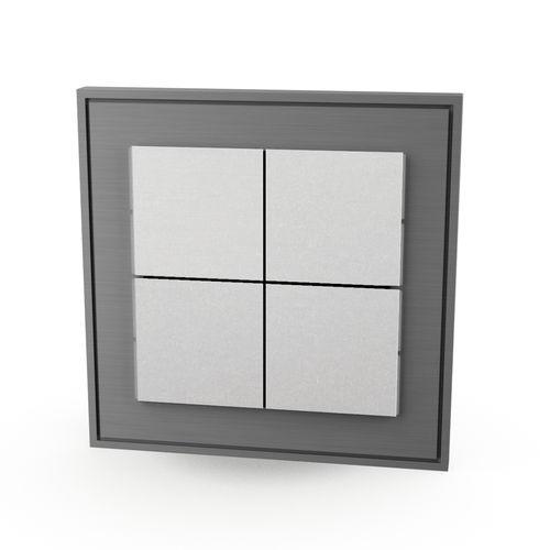 interruttore per sistema domotico / a pulsante / quadruplo / in metallo